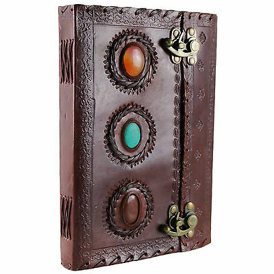 3 Stone Leather Journal Handmade Vintage Blank Diary Notebook Sketchbook Book