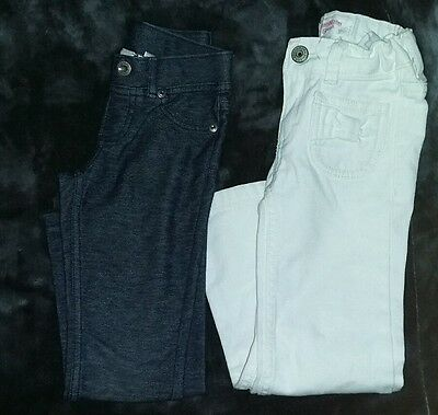 lot of 2 girls size 4t jeans pants