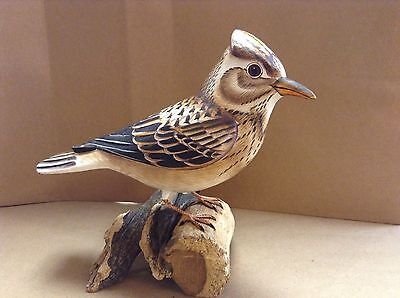 hand carved and painted Skylark