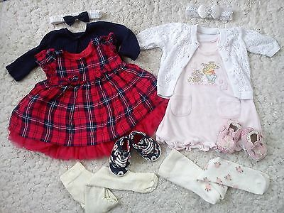 NICE 61x SUMMER COLLECTION BUNDLE OUTFITS NEXT M&S DEB BABY GIRL 0/3 MTHS (3.5)