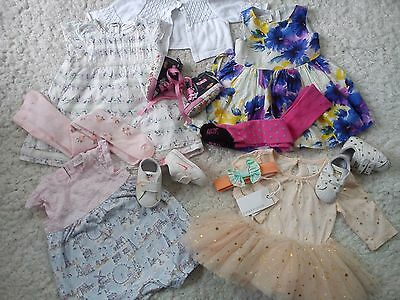 22x SUMMER COLLECTION BUNDLE OUTFITS NEXT NIKE ADIDAS BABY GIRL 0/3 MTHS (1.5)