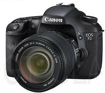 Canon EOS 7D 18.0 MP Digital SLR Camera with EF-S 15-85mm IS USM Lens!! NEW!!