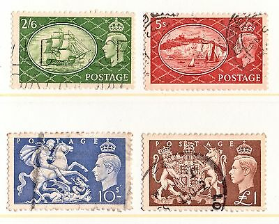 George VI. 1951 set of 4 high values VFU SG.509 to 512