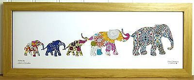 Liberty Of London Fabric 5 Elephant Family Picture #3355 Silhouette Art