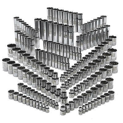 NEW Craftsman 176 Pc Easy Read Socket Set, 6 And 12 Pt., 1/4, 3/8 And 1/2 In Dr