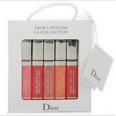 New Limited Edition Dior Travel size 5ml Beautiful  Lip Gloss set, New Boxed