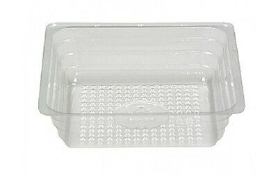 FOOD TRAY PLASTIC  PORTION, REYNOLDS REFLECTIONS CLEAR  4 OZ Ounce  LOT OF 2500