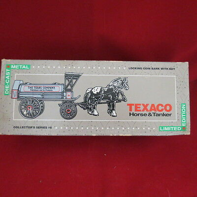bank, Texaco Horse and Tanker locking coin bank, collector series