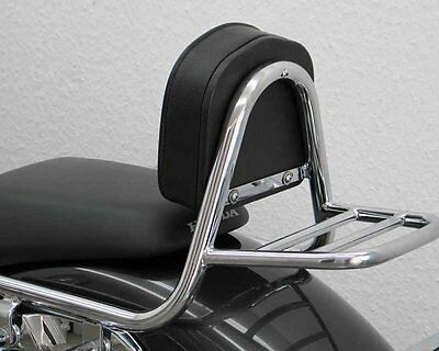 Sissy Bar from pipe with pad and carrier, Honda VT 750 S 2010-