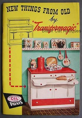 Vintage New Things From Old CIL Paints Transformagic Dealer Sales 64 Pg Booklet