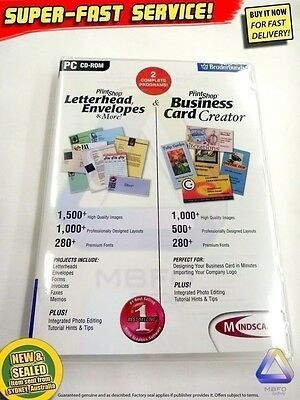 Print Shop Letterheads + Business Cards software (NEW) Windows PC Computer Photo