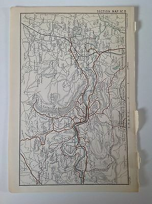 Llangollen, Ruabon, Acrefair, 1899 Antique Map, Bartholomew Atlas, Wales