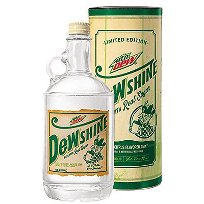 Mountain Dew DEWshine, Limited Edition Collectible Glass Jug (2015) NEW!