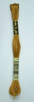 DMC Stranded Cotton Embroidery Floss, Colour 435 Very Light Brown