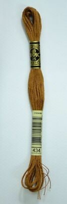 DMC Stranded Cotton Embroidery Floss, Colour 434 Light Brown