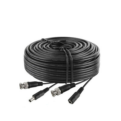 15Ft Security Camera Cable CCTV Video Power Wire BNC RCA Black Cord DVR