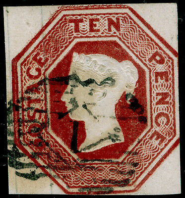 Sg57, 10d brown, CUT SQUARE, FINE used. Cat £1500.