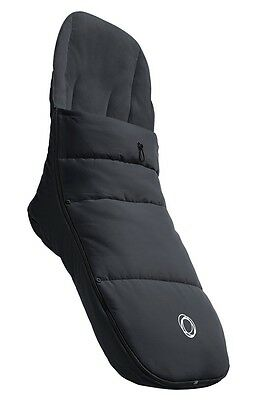 BUGABOO Stroller Footmuff BLACK with a removable top cover NEW!100% polyester