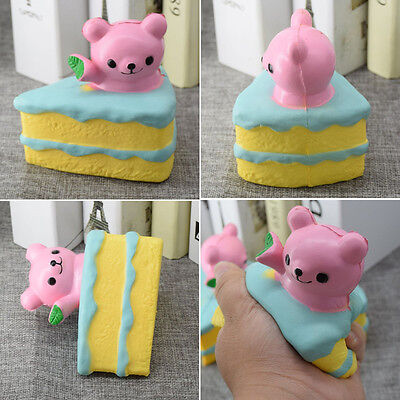 Squishy Bear Cake 10cm Slow Rising Collection Gift Decor Toy