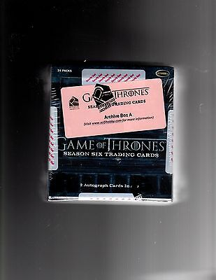 Game of Thrones  season 6 Sealed A & B Archive Box