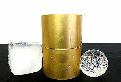 Bevratech 60mm Ice Ball Press-Anodized Gold w/ Ice Cube Tray | Huge Ice Spheres