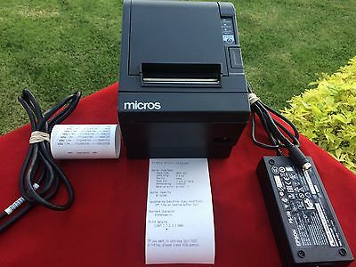 Micros Epson TM-T88III m129c Thermal POS Receipt  Printer with  Power Supply