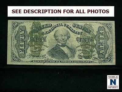 NobleSpirit NO RESERVE {3970} Desirable US 50¢ Fractional Currency CH AU