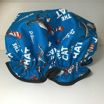 Shower Cap Ladies Girls Cat In The Hat BLUE One size FREE POST *REDUCED*