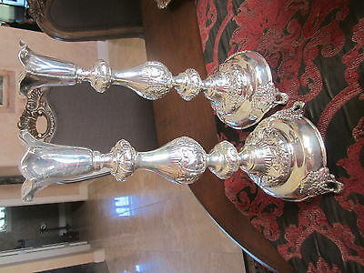 fraget candle sticks 14 inches tall silver plated