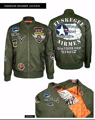 Tuskegee Airmen Red Tails Wool Jacket 5XL Black