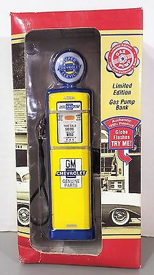 Limited Edition GM Chevrolet Gas Pump Coin Bank Replica Die Cast