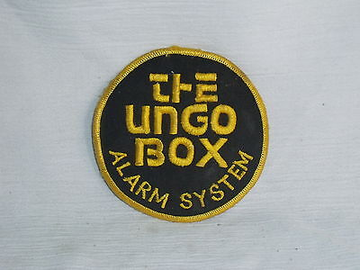 The Ungo Box Patch Car Truck Vehicle Alarm System Vintage Unused