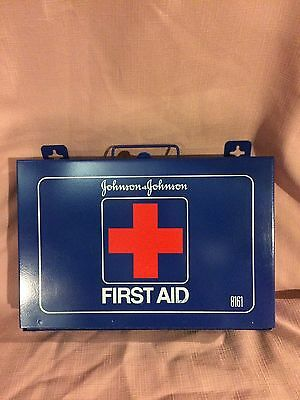 Vintage Johnson And Johnson Metal First Aid Box #8161