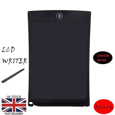 "8.5"" inch LCD e-Writer Tablet Writing Drawing Memo Message Black Boogie Board"