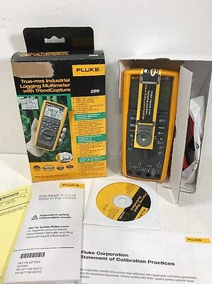 New Fluke 289 TRMS Industrial Logging Multimeter Complete w/ Accessories In Box