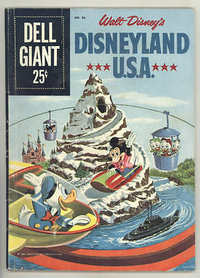 1960 DISNEYLAND USA Dell Giant #30 comic book