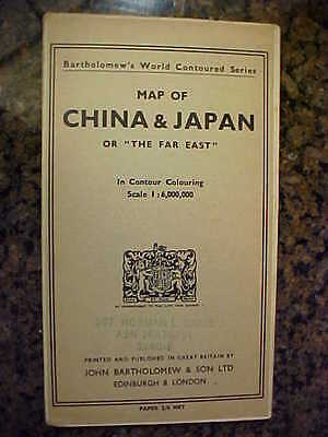 "Bartholomew's Map Of China &  Japan Or ""the Far East"", Printed In Great Britain"