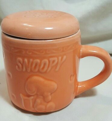 Ceramic Snoopy The Peanuts Mug Cup with Lid