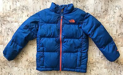 The North Face Jacket Coat Down Blue Orange Warm Winter Snow Size 6