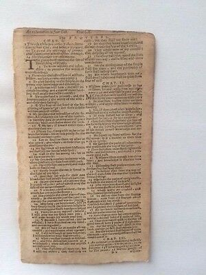 Original 1650 Bible English Proverbs 1-4!