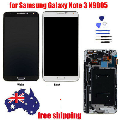 AU LCD Touch Screen Digitizer Assembly+Frame for Samsung Galaxy Note3 N9005 LTE