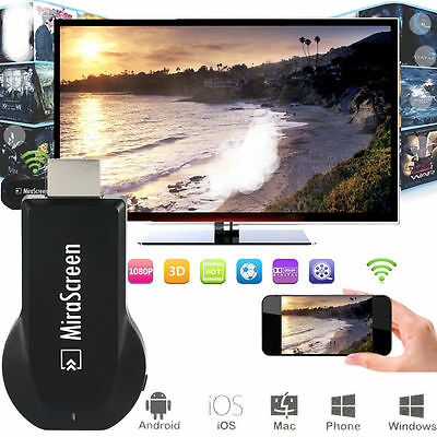 1080P HDMI AV Adapter HD TV Wireless Cable for Samsung Galaxy S8 S7 S6