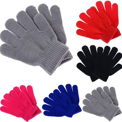 Kids Winter Warmer Soft Simple  Touch Gloves Mittens for Boys Girls AU