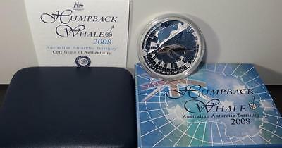 ## 2008 1oz Silver Proof Coin Australian Antarctic Series ** Humpback Whale **