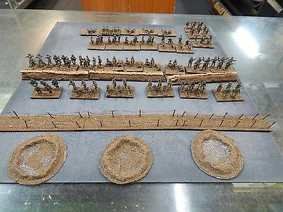 1/72 plastic painted WW1 British Infantry with some home made scenery