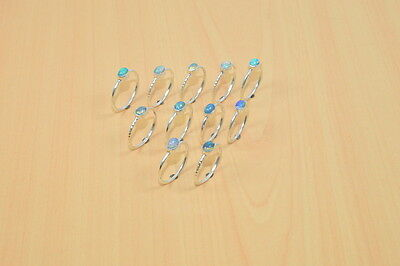 Wholesale 11Pc 925 Solid Sterling Silver Natural Welo Ethiopian Opal Ring Lot
