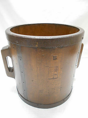 Collectable Vintage Japanese Rice Bucket Sugi Wood #22
