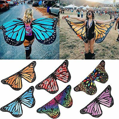 Fabric Soft Butterfly Wings Shawl Fairy Ladies Nymph Pixie Costume Accessory UK