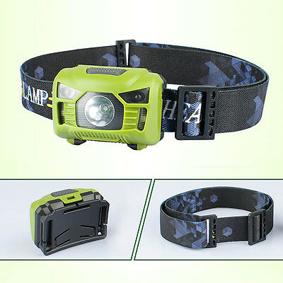Mini Rechargeable Sensor LED Headlamp Headlight Head Torch For Fishing Cycling