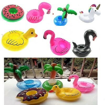 4pcs Inflatable Flamingo Drink Holders Animal Swimming Pool Tub Holiday Bath Can